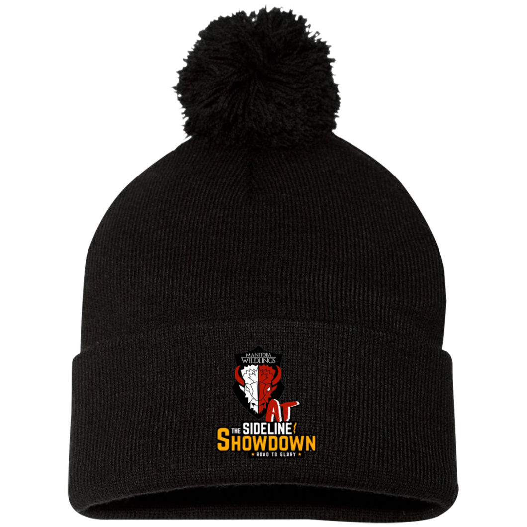 Manitoba Wildlings at The Sideline Showdown Series Pom Pom Knit Cap