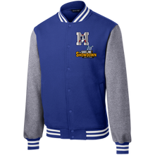 Load image into Gallery viewer, Omaha Patriots at The Sideline Showdown Series Fleece Letterman Jacket