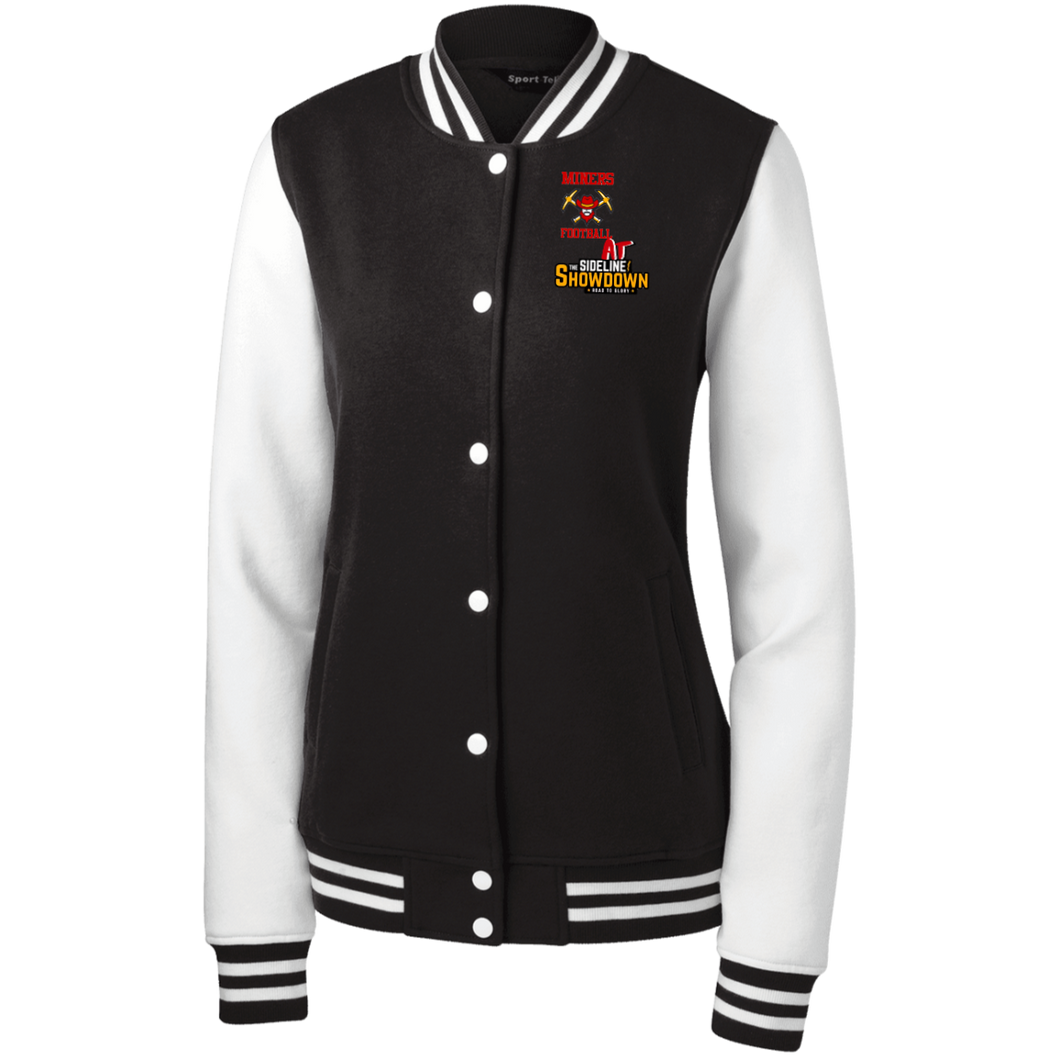Miners Football at The Sideline Showdown Series Women's Fleece Letterman Jacket