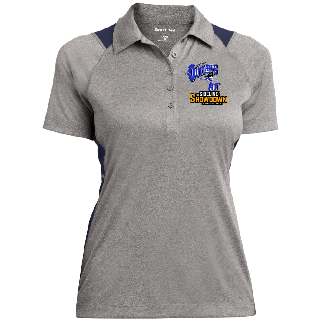 Montana Outlaws at The Sideline Showdown Series Ladies' Heather Moisture Wicking Polo