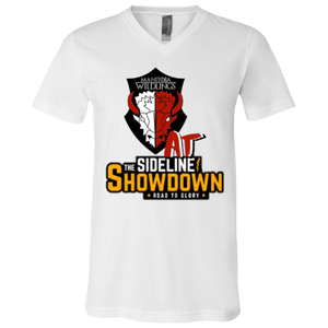 Manitoba Wildlings at The Sideline Showdown Series Unisex Jersey SS V-Neck T-Shirt