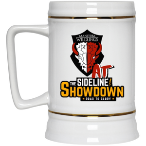 Manitoba Wildlings at The Sideline Showdown Series Beer Stein 22oz.