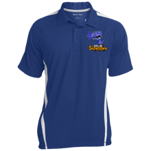 Load image into Gallery viewer, Montana Outlaws at The Sideline Showdown Series Men's Colorblock 3-Button Polo