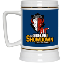 Load image into Gallery viewer, Manitoba Wildlings at The Sideline Showdown Series Beer Stein 22oz.