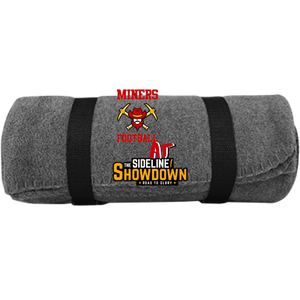 Miners Football at The Sideline Showdown Series  Fleece Blanket