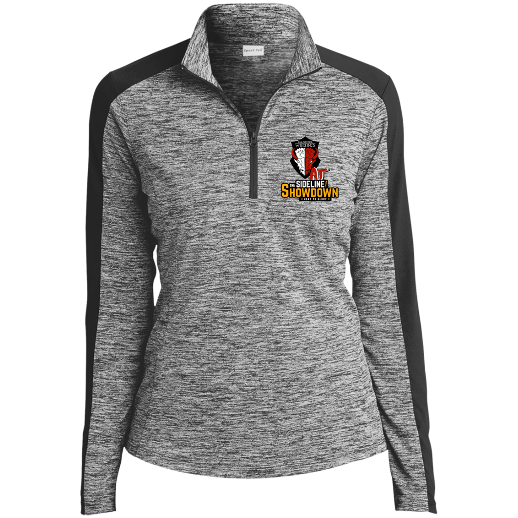 Manitoba Wildlings at The Sideline Showdown Series Ladies' Electric Heather Colorblock 1/4-Zip Pullover