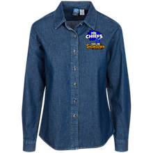 Load image into Gallery viewer, MN Chiefs at The Sideline Showdown Series Women's LS Denim Shirt