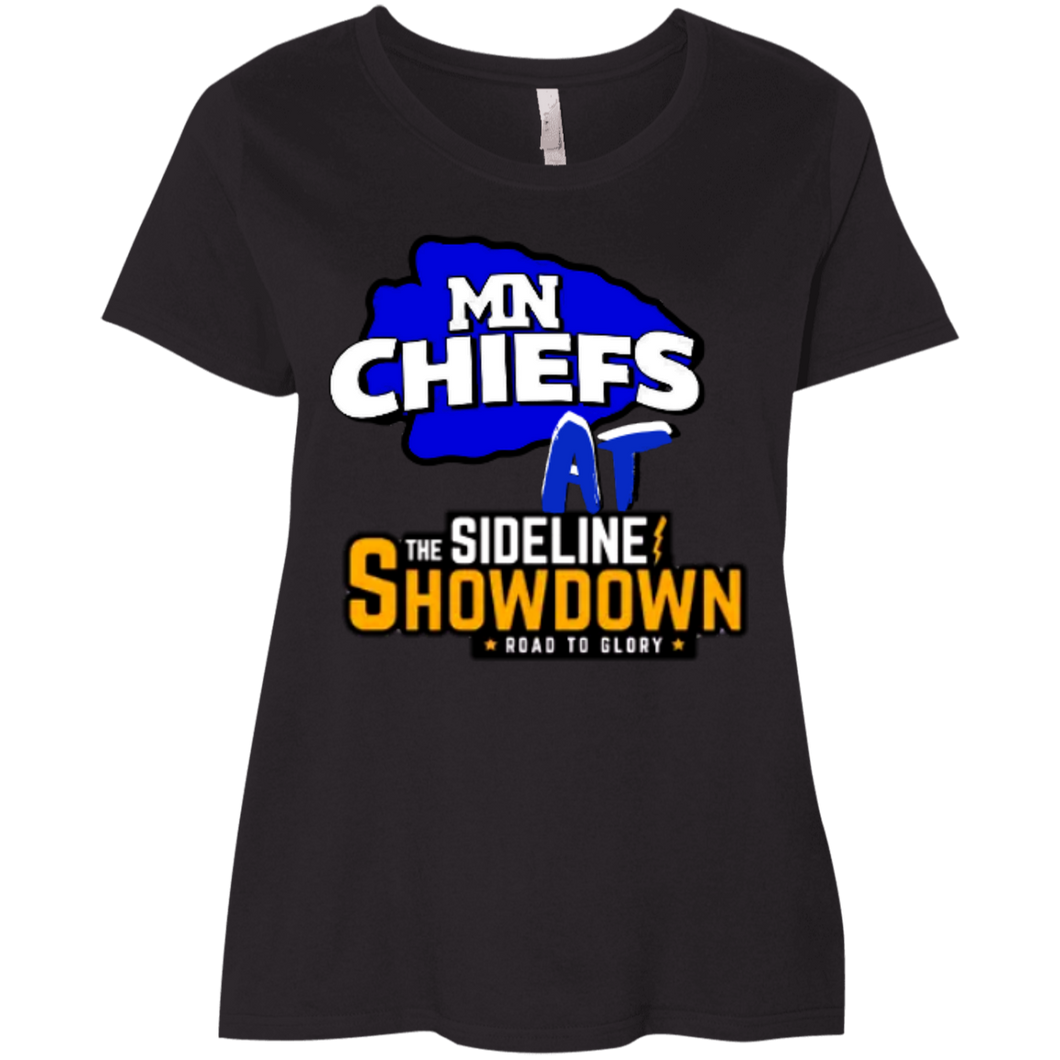 MN Chiefs at The Sideline Showdown Series Ladies' Curvy T-Shirt