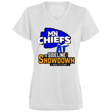 Load image into Gallery viewer, MN Chiefs at The Sideline Showdown Series Ladies' Wicking T-Shirt
