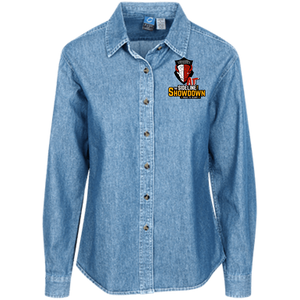 Manitoba Wildlings at The Sideline Showdown Series Women's LS Denim Shirt