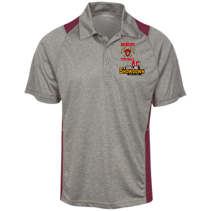 Miners Football at The Sideline Showdown Series Heather Moisture Wicking Polo