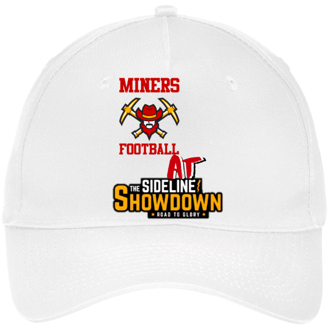 Miners Football at The Sideline Showdown Series Five Panel Twill Cap