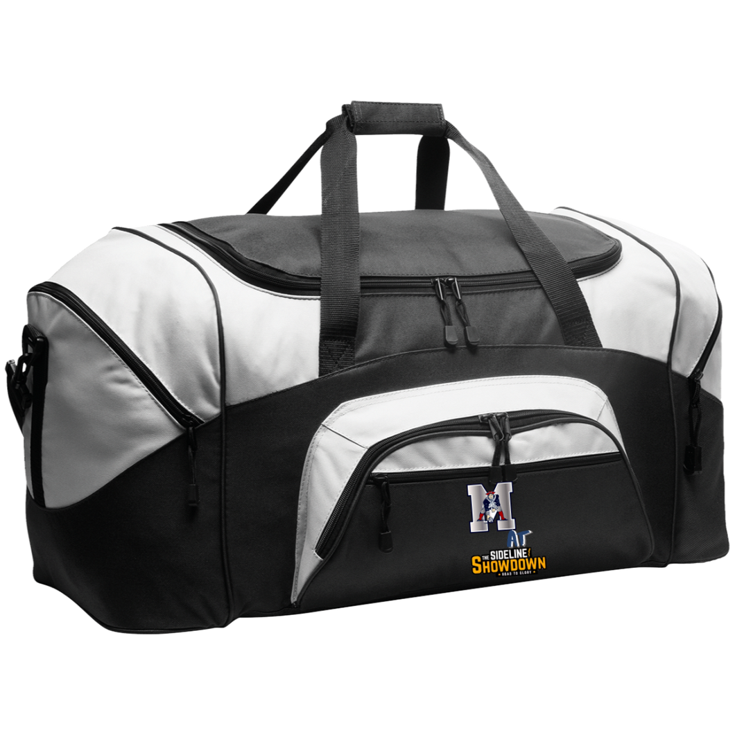 Omaha Patriots at The Sideline Showdown Series Colorblock Sport Duffel