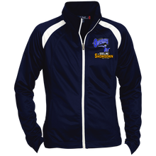Load image into Gallery viewer, Montana Outlaws at The Sideline Showdown Series Ladies' Raglan Sleeve Warmup Jacket