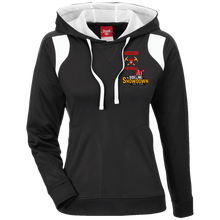 Load image into Gallery viewer, Miners Football at The Sideline Showdown Series Ladies' Colorblock Poly Hoodie