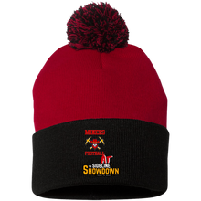 Load image into Gallery viewer, Miners Football at The Sideline Showdown Series Pom Pom Knit Cap