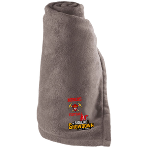 Miners Football at The Sideline Showdown Series Large Fleece Blanket