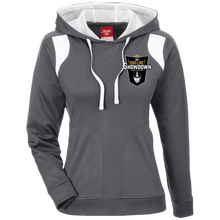 Load image into Gallery viewer, The Sideline Showdown Series Ladies' Colorblock Poly Hoodie
