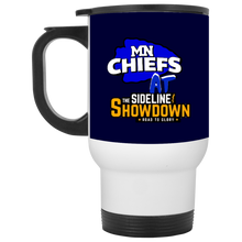 Load image into Gallery viewer, MN Chiefs at The Sideline Showdown Series White Travel Mug