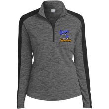 Load image into Gallery viewer, Montana Outlaws at The Sideline Showdown Series Ladies' Electric Heather Colorblock 1/4-Zip Pullover