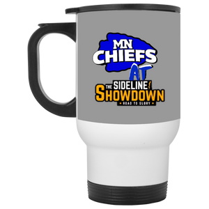 MN Chiefs at The Sideline Showdown Series White Travel Mug