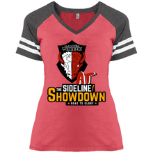 Load image into Gallery viewer, Manitoba Wildlings at The Sideline Showdown Series Ladies' Game V-Neck T-Shirt