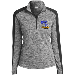 Montana Outlaws at The Sideline Showdown Series Ladies' Electric Heather Colorblock 1/4-Zip Pullover