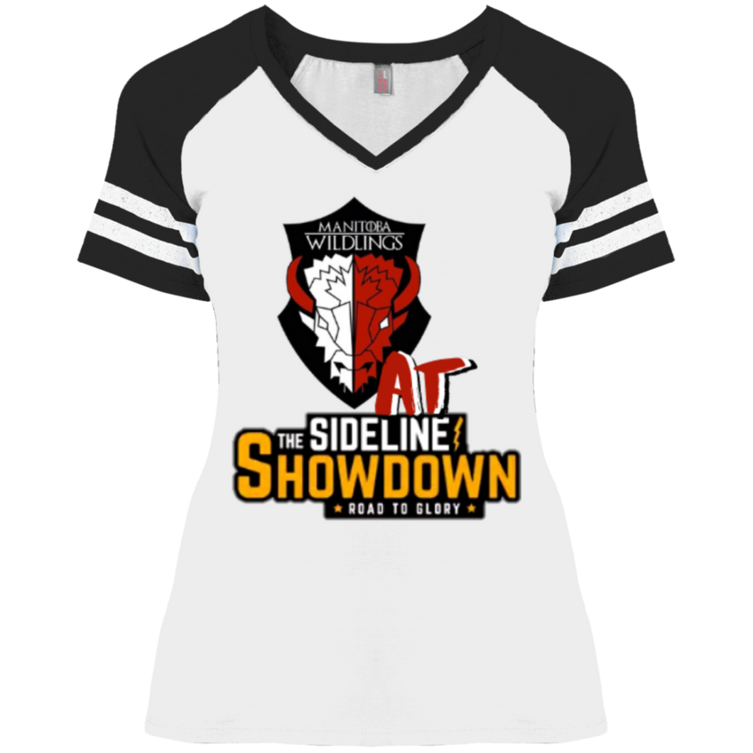 Manitoba Wildlings at The Sideline Showdown Series Ladies' Game V-Neck T-Shirt
