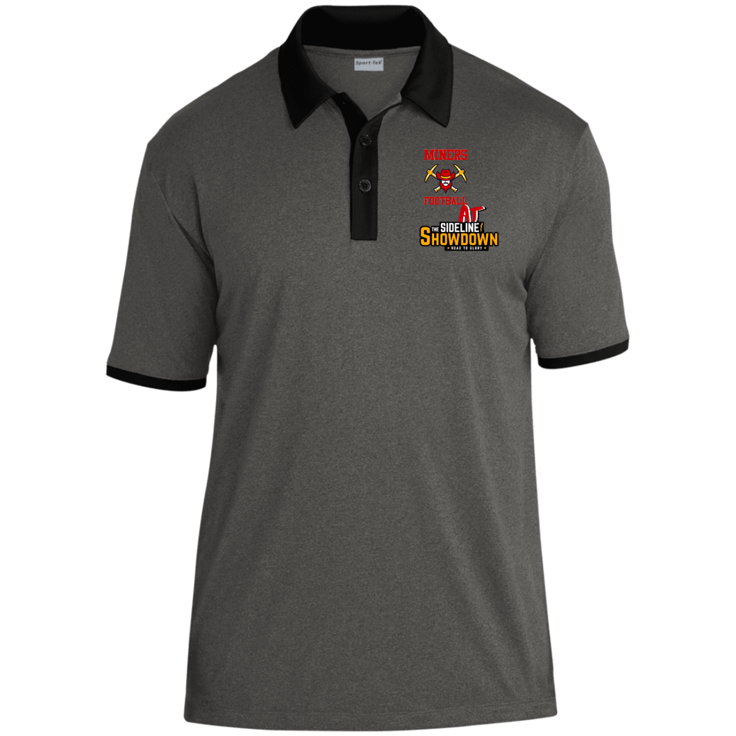 Miners Football at The Sideline Showdown Series Heather Contender Contrast Polo