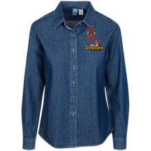 Load image into Gallery viewer, Miners Football at The Sideline Showdown Series Women's LS Denim Shirt