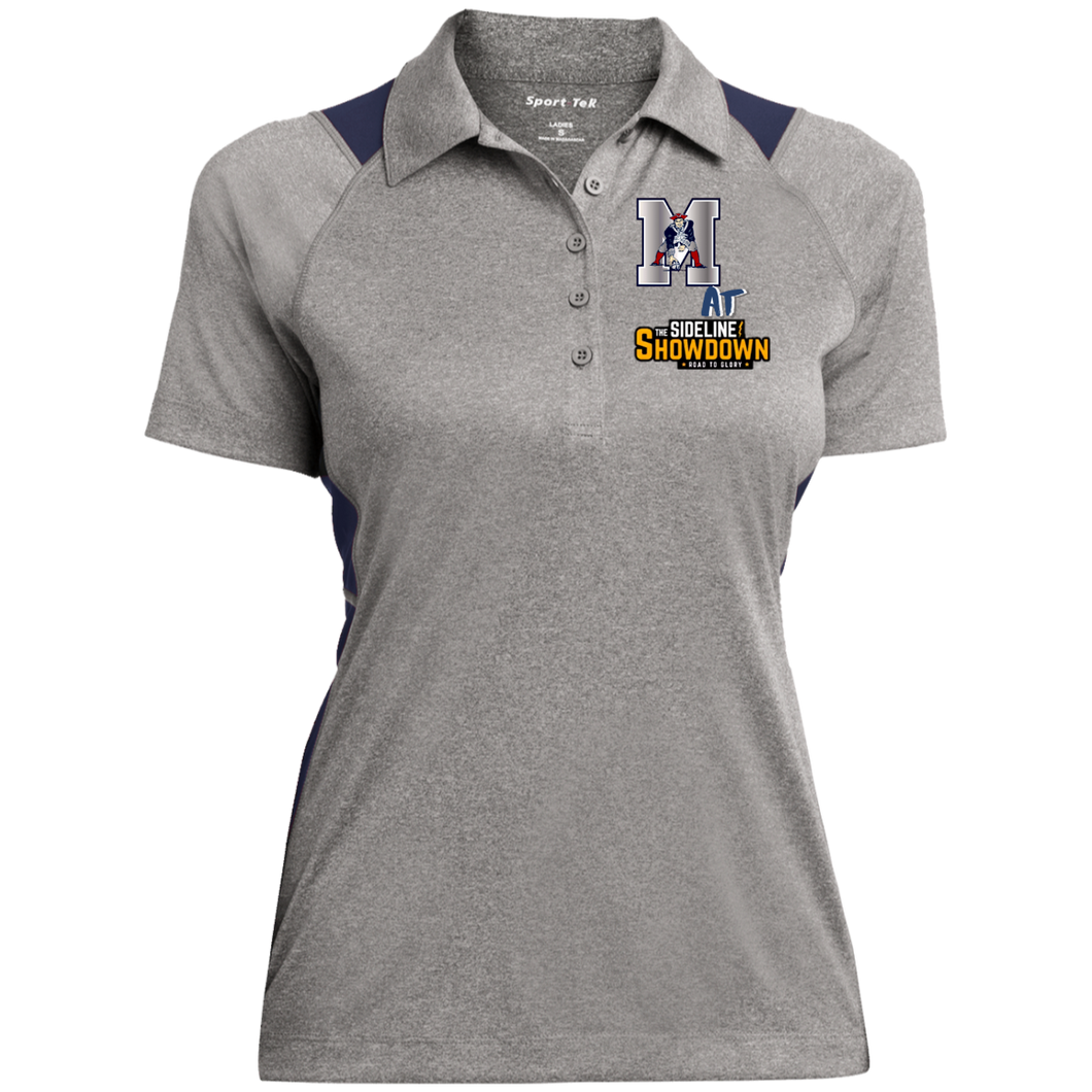 Omaha Patriots at The Sideline Showdown Series Ladies' Heather Moisture Wicking Polo