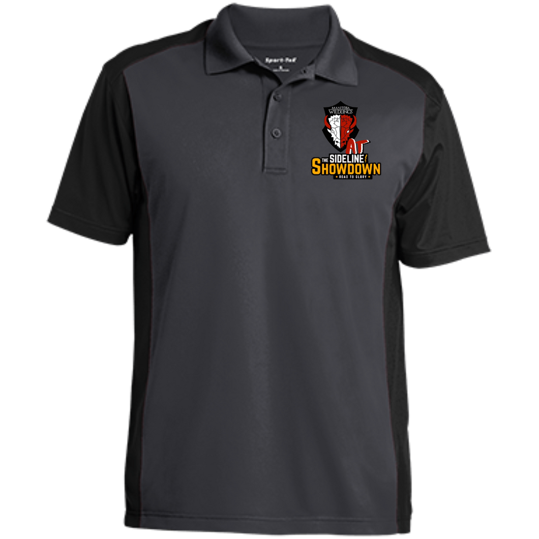 Manitoba Wildlings at The Sideline Showdown Series Men's Colorblock Sport-Wick Polo