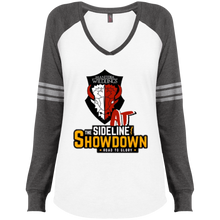 Load image into Gallery viewer, Manitoba Wildlings at The Sideline Showdown Series Ladies' Game LS V-Neck T-Shirt