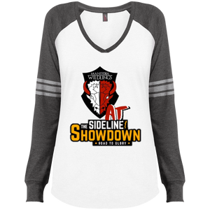 Manitoba Wildlings at The Sideline Showdown Series Ladies' Game LS V-Neck T-Shirt