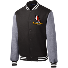 Load image into Gallery viewer, Manitoba Wildlings at The Sideline Showdown Series Fleece Letterman Jacket