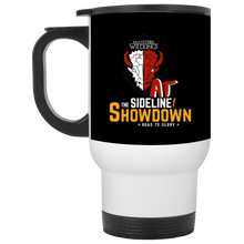 Load image into Gallery viewer, Manitoba Wildlings at The Sideline Showdown Series White Travel Mug