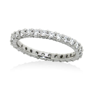 Diamond eternity band with 0.75ct brilliant cut diamond in platinum