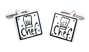 Sonia Spencer Bone China Jobs for the Boys cufflinks, Chef
