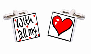 Sonia Spencer Bone China Amour cufflinks, With All My Love
