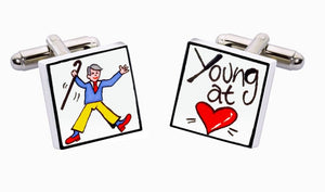 Sonia Spencer bone china Young At Heart Cufflinks