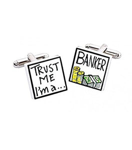 Sonia Spencer bone china Trust Me I'm A Banker Cufflinks