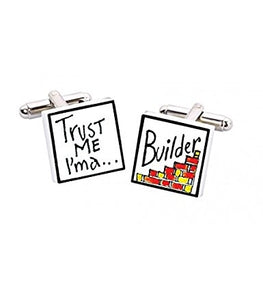 Sonia Spencer bone china Trust Me I'm A Builder Cufflinks