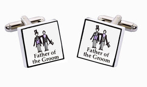 Sonia Spencer model wedding bone china cufflinks Father of The Groom