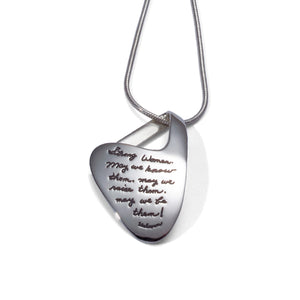 STRONG WOMEN Sterling Silver Pendant