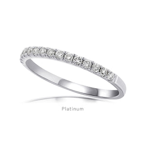 Diamond wedder with 0.31ct micro pave set diamonds in platinum - OJ CO - Hers - Platinum