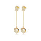 Galeiras 9kt yellow gold double flower drop earrings