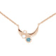 WAVERLY - 0.03ct White and Blue Diamond Petite Necklace