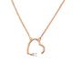 AMANDA - 0.01ct Diamond Heart Necklace