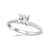 ZARA - 0.50ct Princess Cut Diamond 4 Claw Solitaire Ring