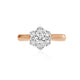 GIOVANNA - 0.52ct Diamond Cluster Engagement Ring